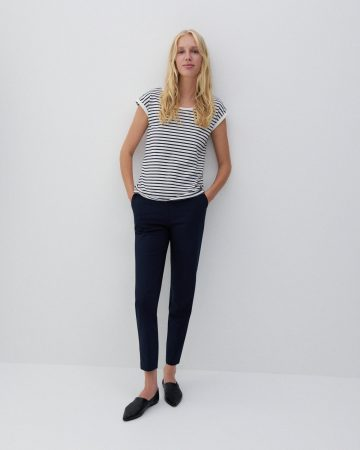 Womens T-Shirt In Organic Cotton Navy | Reserved T-Shirts, Tops