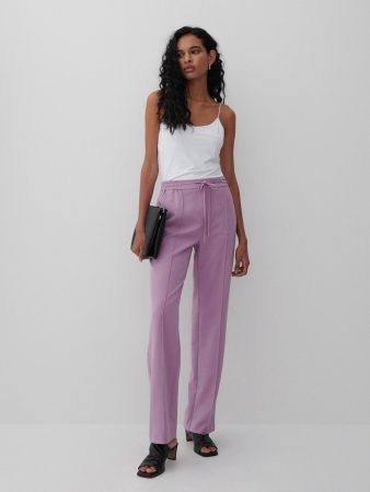 Womens Trousers With Stitching Purple | Reserved Trousers