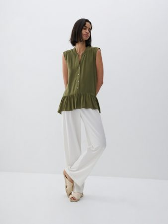 Womens Viscose Blouse Green | Reserved Blouses