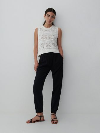 Womens Viscose Rich Joggers Black | Reserved Trousers