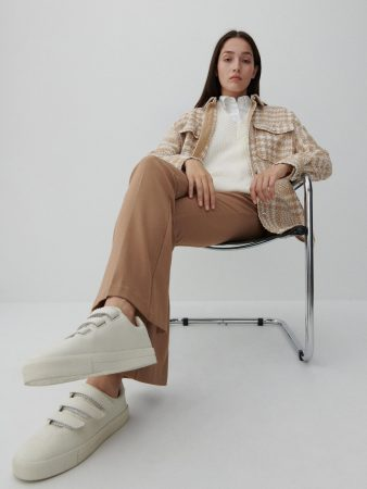 Womens Viscose Trousers Beige | Reserved Trousers