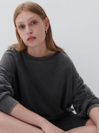 Womens Wash Effect Sweatshirt Grey | Reserved Sets, Co-Ords