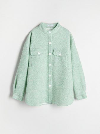 Womens Wool Blend Shirt Green | Reserved Sets, Co-Ords