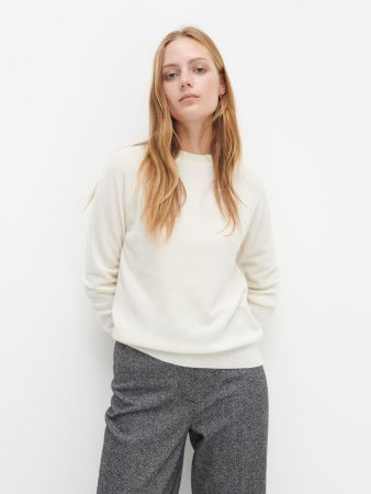 Womens Merino Wool Rich Jumper Ivory | Reserved Jumpers, Cardigans